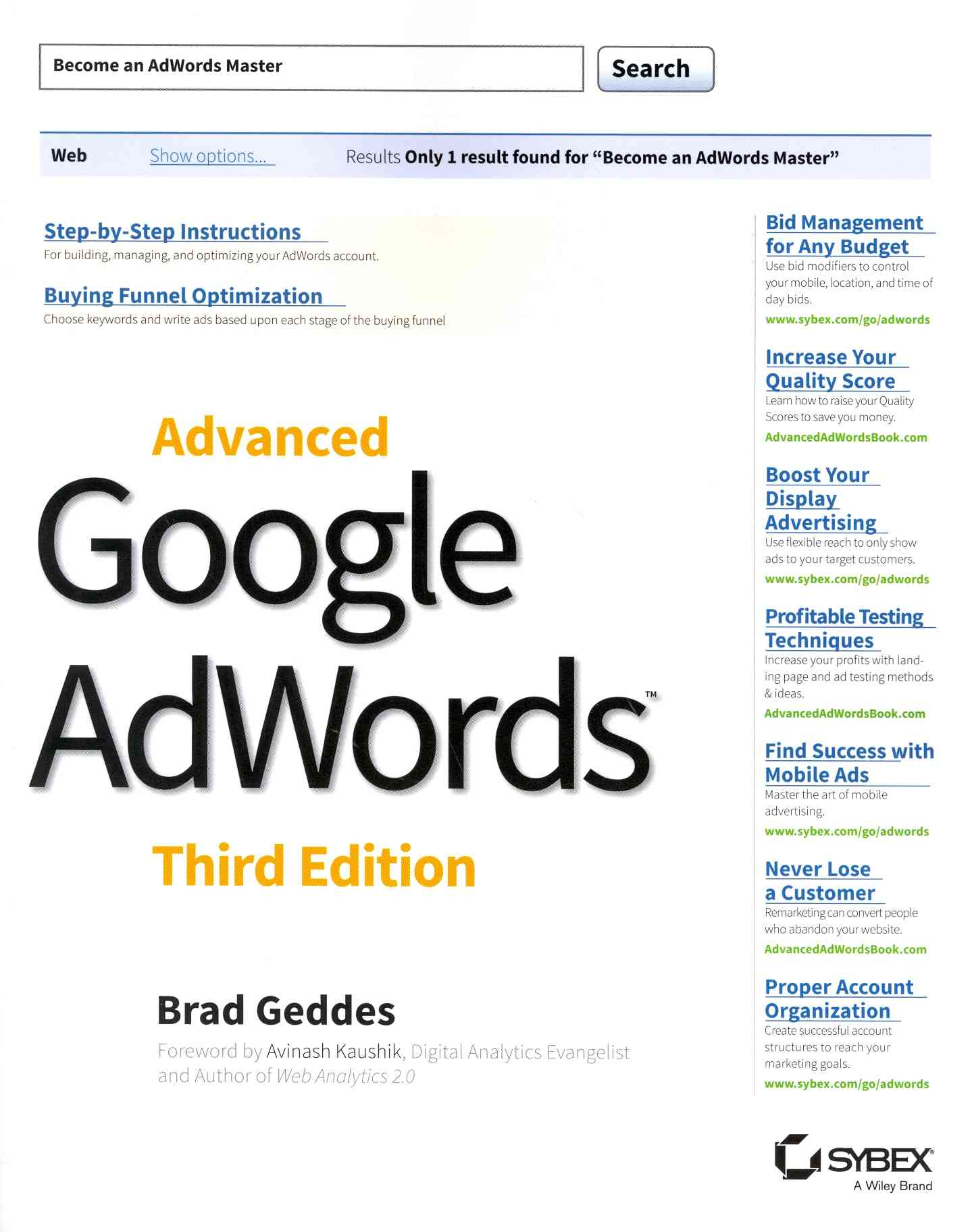 Advanced Google Adwords By Geddes, Brad